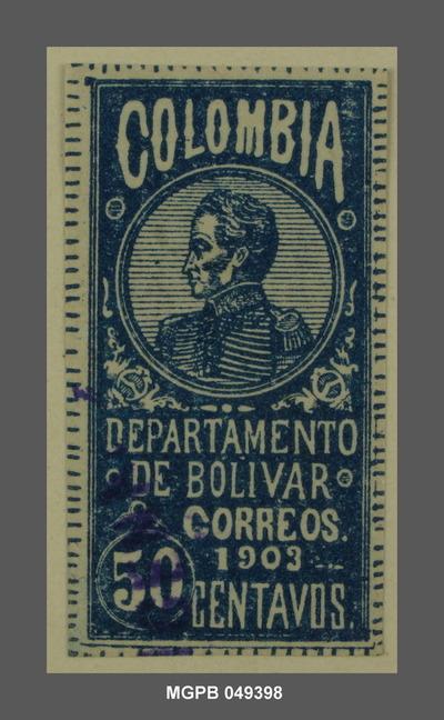 50 centaus Simón Bolívar