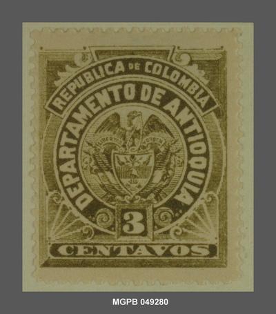 3 centaus Escut de la República de Colòmbia