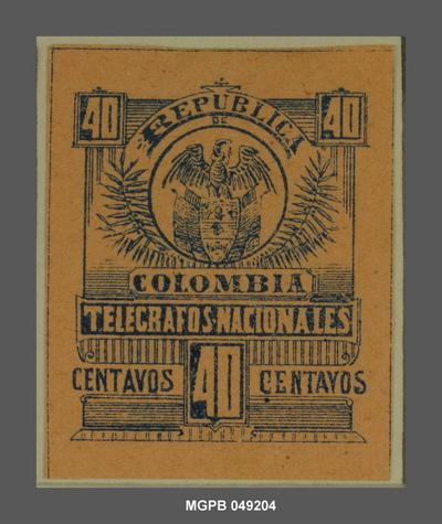 40 centaus Escut de la República Colòmbia