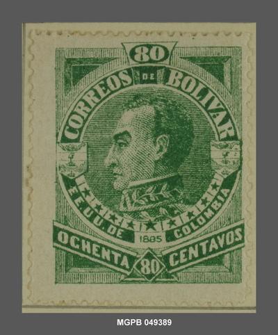 80 centaus Simón Bolívar