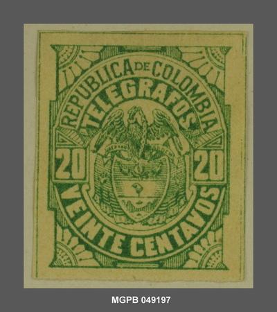 20 centaus Escut de la República Colòmbia