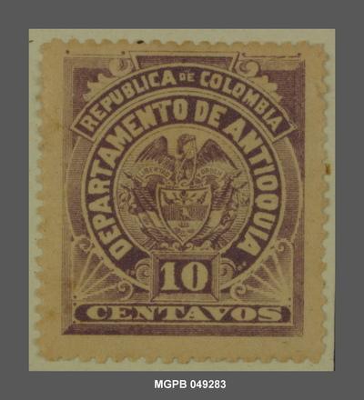 10 centaus Escut de la República de Colòmbia