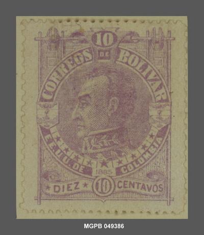 10 centaus Simón Bolívar