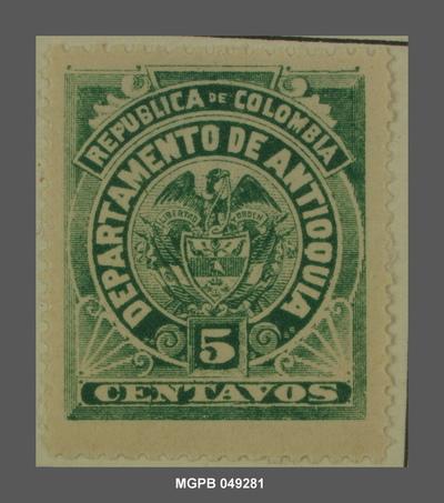 5 centaus Escut de la República de Colòmbia