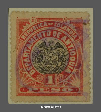1 peso Escut de la República de Colòmbia