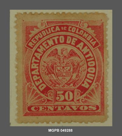 50 centaus Escut de la República de Colòmbia