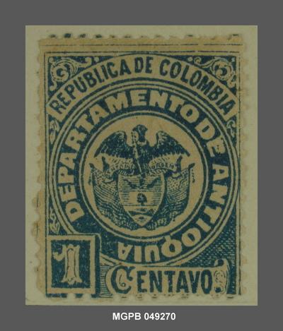 1 centau Escut de la República de Colòmbia