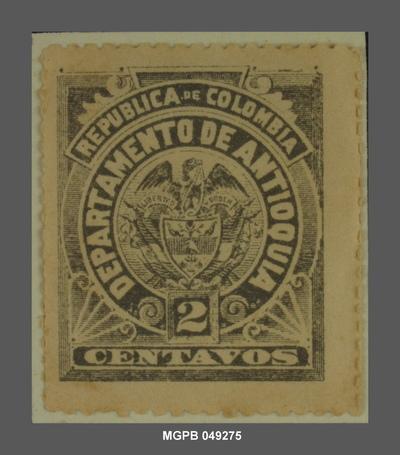 2 centaus Escut de la República de Colòmbia