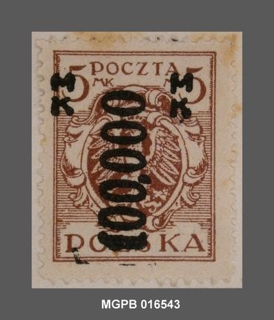 100000 s. 5 marcs Escut de Polònia