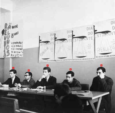 Direcção da Associação Académica da Faculdade de Direito de Lisboa em reunião geral de alunos.