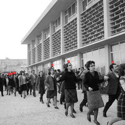 Convívio de estudantes junto à Cidade Universitária.