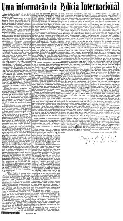Sem título, Terça, 8 de Maio de 1962 - Quarta, 13 de Junho de 1962