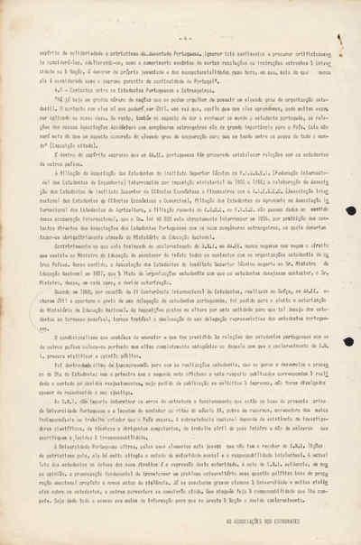 Informação das Associações Académicas aos Estudantes e Professores acerca do Comunicado do SNI de 07.ABR.1962