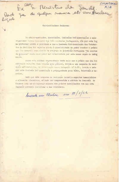 Carta de protesto das Academias Portuguesas