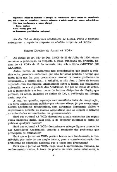 Comunicado conjunto da Associação Académica de Coimbra, Associações de Estudantes de Lisboa, Orfeão Universitário do Porto, Casa dos Estudantes do Império e Grupo Desportivo Universitário de Lisboa