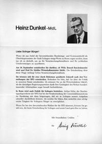 Heinz Dunkel - MdL