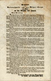 Petition der Nationalgarde und des Bürger-Corps von Wien an den Minister des Innern