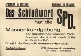 Das Schlußwort hat die SPD.