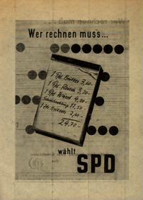Wer rechnen muss ... wählt SPD