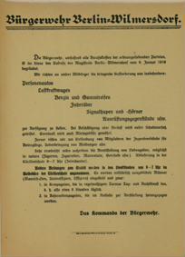 Bürgerwehr Berlin-Wilmersdorf.