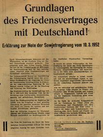 Grundlagen des Friedensvertrages mit Deutschland!