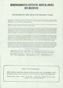 Demonstration am 9. Mai in Bonn