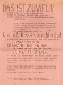 Das ist zuviel!!! Das läßt Kassel sich nicht bieten!