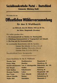 Sozialdemokratische Partei - Deutschland Kreisverein Oldenburg (Stadt)