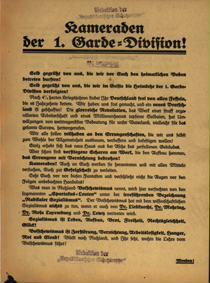 Kameraden der 1. Garde-Division!