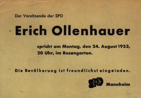 Der Vorsitzende der SPD Erich Ollenhauer