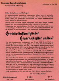 Gewerkschaftsmitglieder Gewerkschaftler wählen!