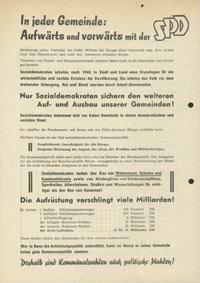 In jeder Gemeinde: Aufwärts und vorwärts mit der SPD