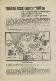 Deutschland fordert allgemeine Abrüstung