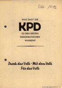 Was sagt die KPD zu den ersten demokratischen Wahlen?