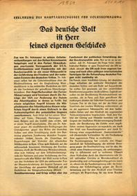Erklärung des Hauptausschusses für Volksbefragung
