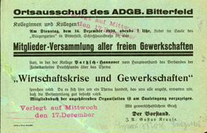 Mitglieder-Versammlung aller freien Gewerkschaften