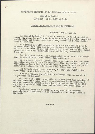 Projet de resolution sur le Portugal