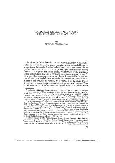 Carlos de Batlle y su galería de celebridades francesas