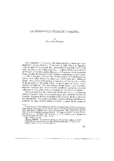 La Grammatica Audax de Caramuel