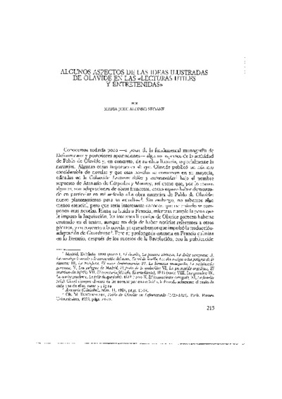 Algunos aspectos de las ideas ilustradas de Olavide en las Lecturas útiles y entretenidas