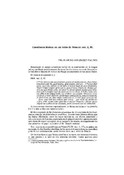 Cuestiones léxicas en un texto de Séneca: nat. 2, 40.