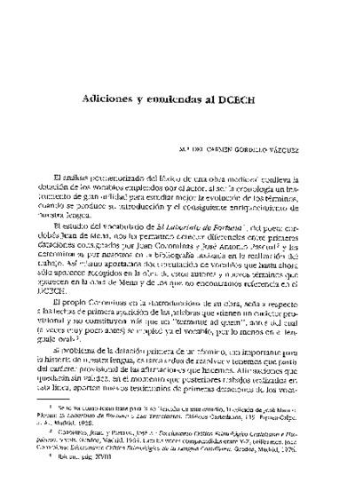 Adiciones y enmiendas al DCECH