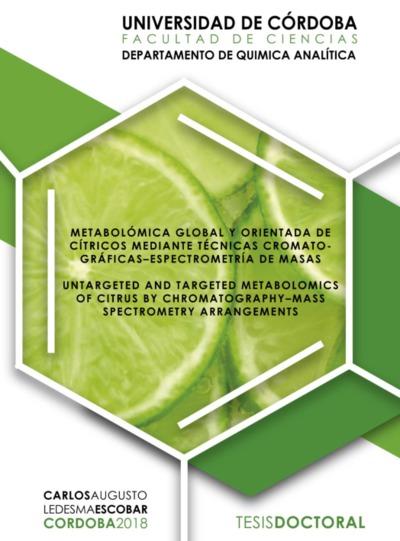 Metabolómica global y orientada de cítricos mediante técnicas cromatográficas-espectrometría de masas