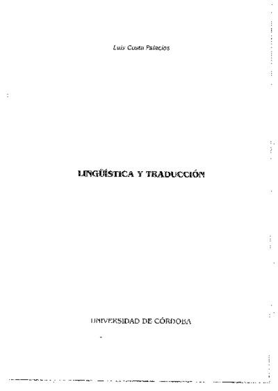 Lingüística y traducción