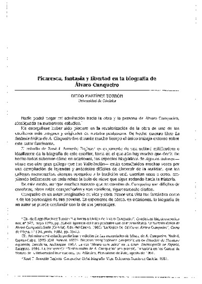 Picaresca, fantasía y libertad en la biografía de Álvaro Cunqueiro
