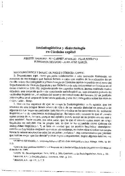Sociolingüística y dialectología en Córdoba capital