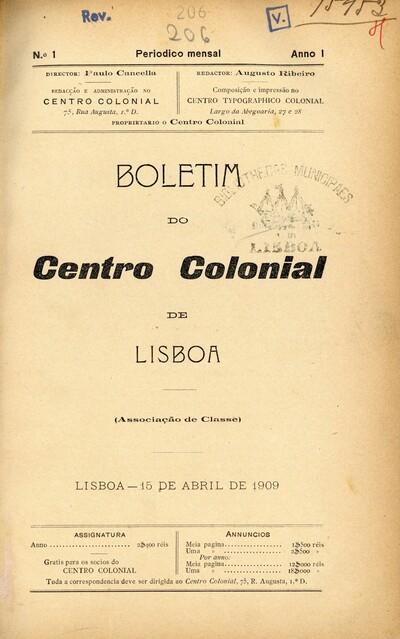 Boletim do Centro Colonial de Lisboa