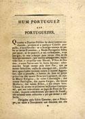 Hum Portuguez aos Portuguezes