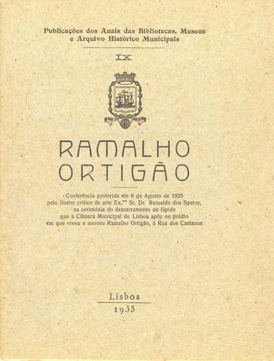 Ramalho Ortigão: conferência proferida em 8 de Agosto de 1935