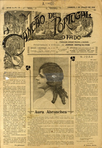 A canção de Portugal: o fado. publicação semanal literária e ilustrada
